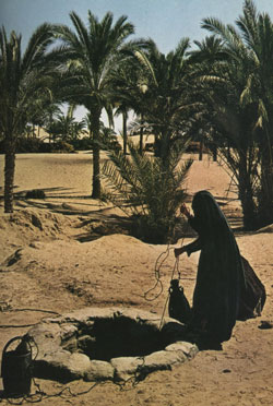 SAMARITAN WOMAN: BIBLE WOMEN; WOMAN DRAWING WATER FROM WELL