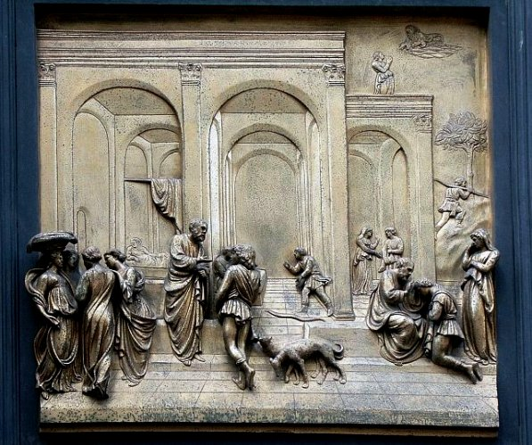 Rebecca, Isaac artworks: The Isaac Panel from Ghiberti's 'Gates of Paradise', Florence