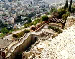 Jerusalem-Stepped stone structure, view from above