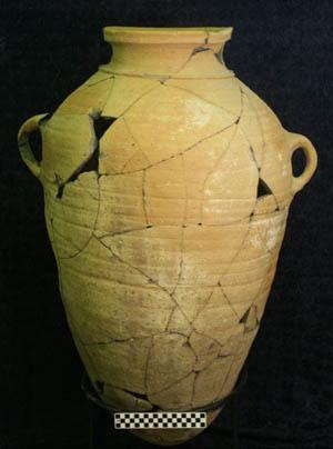A collared-rim jar