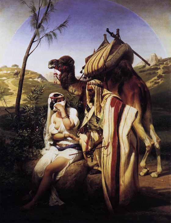 Bible Paintings of Judah and Tamar, painting by Emile Vernet, 1840