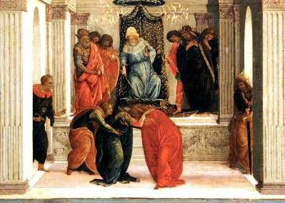 Filippino Lippi, Central panel from the story of Queen Esther