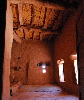 Heroes of the Bible, Joseph of Nazareth: Interior of a mudbrick house, probably similar to the one in which Joseph and Mary lived