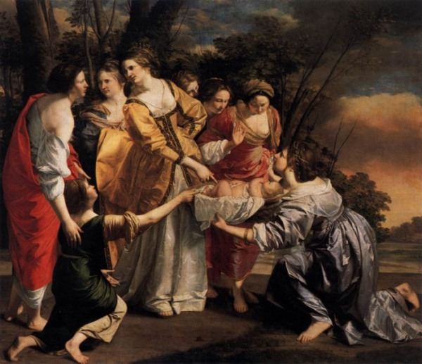 Moses Paintings: 'The Finding of Moses', Orazio Gentileschi
