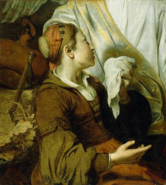 Paintings of Hagar & Sarah: 'Hagar Weeping', Gerbrand van den Eeckhout, 1640's