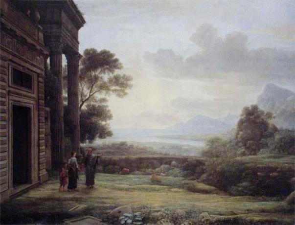 'Abraham Expelling Hagar and Ishmael', Claude Lorraine, 1668