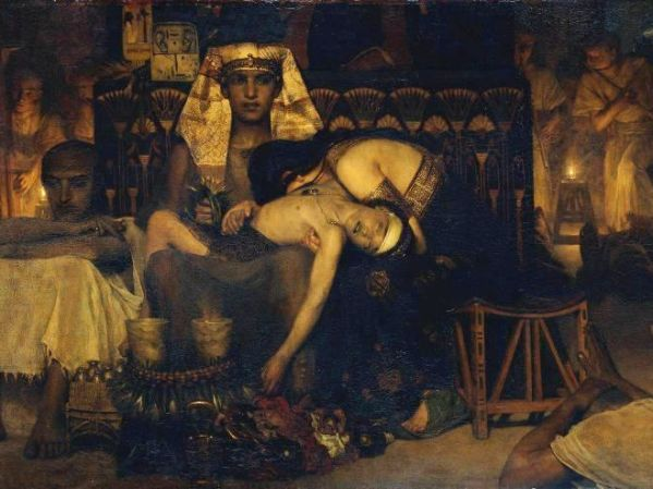 Moses Paintings: 'Death of the Pharoah's Firstborn', Sir Lawrence Alma-Tadema, 1872