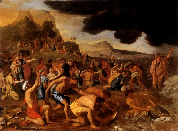 Moses Paintings: 'The Crossing of the Red Sea', Nicolas Poussin, 1633-34
