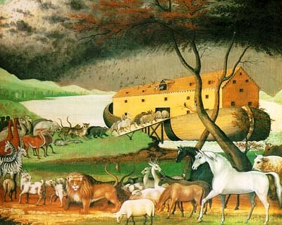 Bible Heroes: Noah's Ark, painting by Edward Hicks