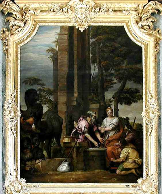 Rebecca, Isaac paintings: Paolo Cagliari, Rebecca and Eliezer at the Well