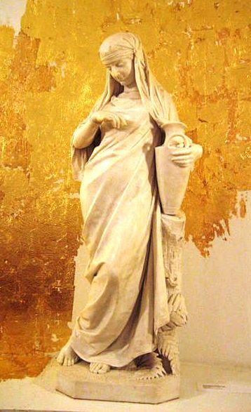 Rebecca, Isaac artworks: Statue of Rebecca by Johannes Takanen, 1877