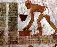 Brick-making in ancient Egypt