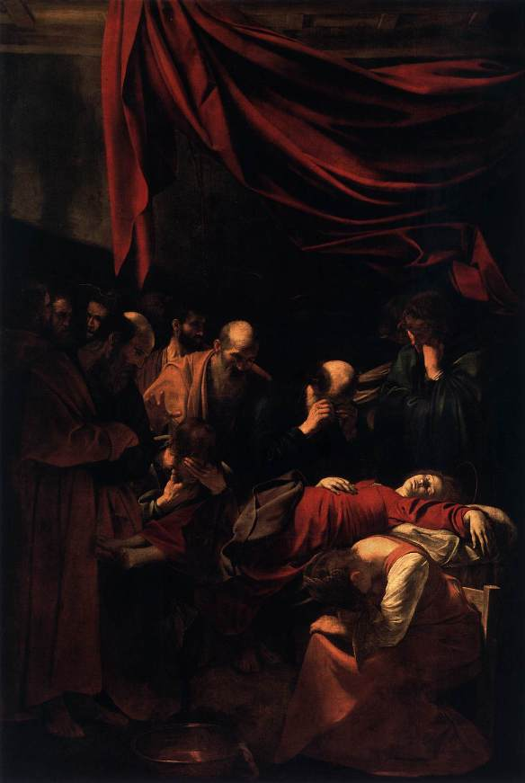 Paintings of Mary: Death of the Virgin, Caravaggio