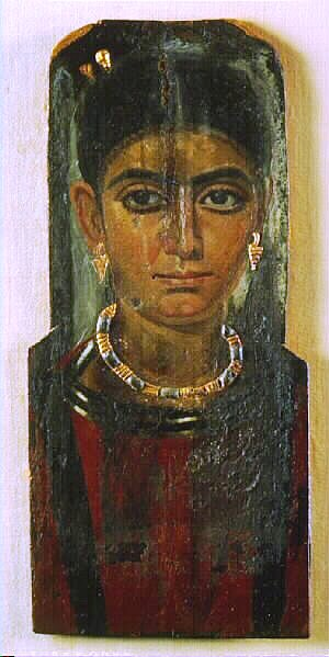 Death and burial in ancient times: Coffin portrait from Fayum, Egypt, 3rd century AD