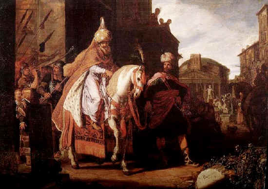 Esther paintings: Mordecai's Triumph, Pieter Lastman 1624