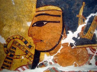 Image of Pharaoh, Egyptian mural