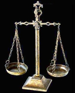 Worst Sins in the Bible: Legal corruption. The scales of justice