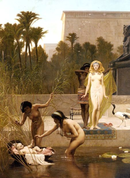 Moses Paintings: 'The Finding of Moses', Frederick Goodall