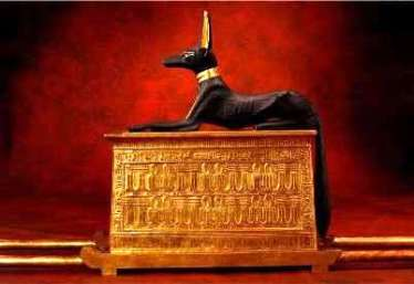 Portable Altar of Anubis found in the tomb of Tutankhamen