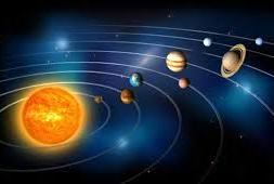 The sun with planets