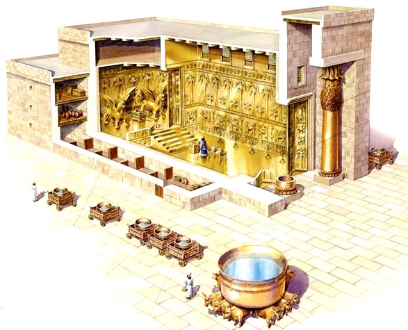 Reconstruction of Solomon's Temple built many hundreds of years after the time of Aaron