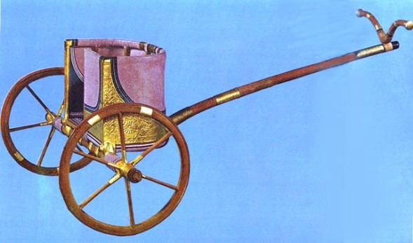 Egyptian chariot circa 15th century BC