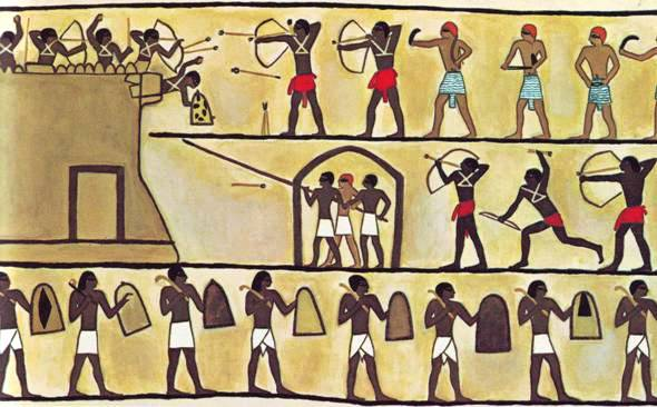 Battering rams fearsome ancient weapons of war for Ancient egyptian mural paintings