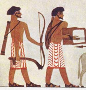 Axes in ancient battle beautiful deadly weapons for Beni hasan mural