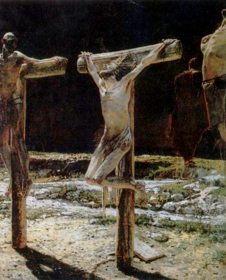 Remarkable, the Nude female crucifixion art