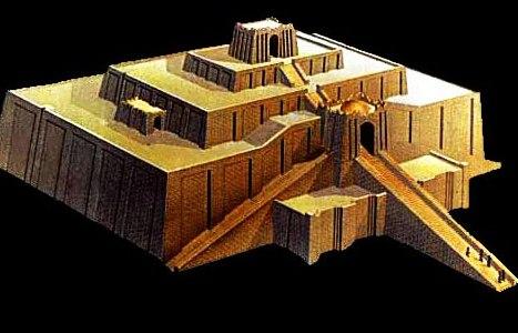 A Reconstruction Of The Ziggurat At Ur