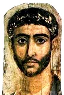 Fayum coffin portrait