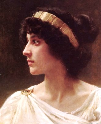 Bible princess: Herodias. Painting of a Roman-era woman by the French painter Bouguereau