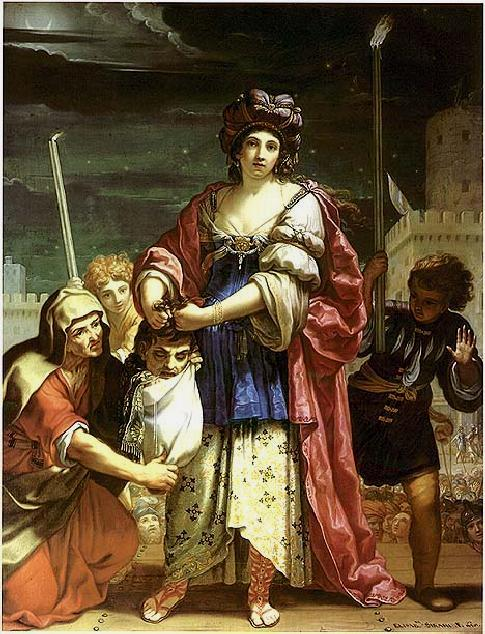 Paintings of the Bible heroine Judith. 'Judith with the Head of Holofernes', Elizabetta Sirani