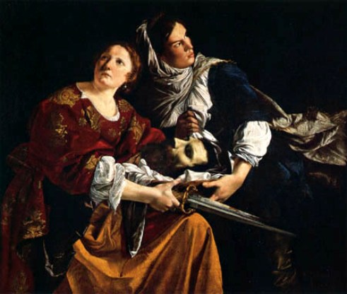 Judith Paintings. The Bible's Judith and her Maidservant with the Head of Holofernes, Orazio Gentileschi, father of Artemisia