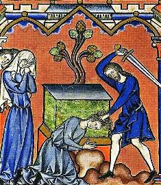 Bible study ideas: Jephtah sacrifices his daughter - Medieval manuscript