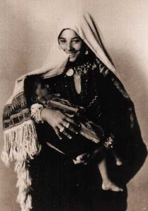 Young Middle Eastern mother with child