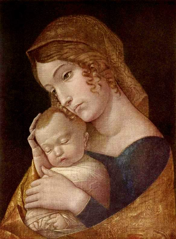 Madonna: The Virgin with sleeping child, Andrea Mantegna