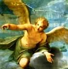 Angel with outstretched arm