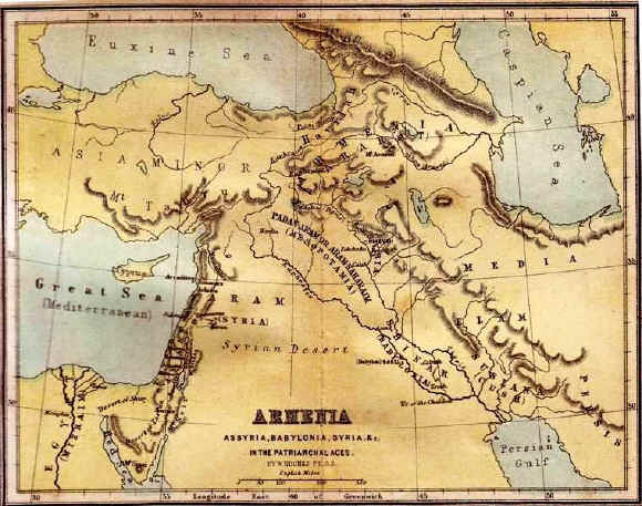 Bible maps: Assyria and Babylonia in the Age of the Patriarchs and Matriarchs