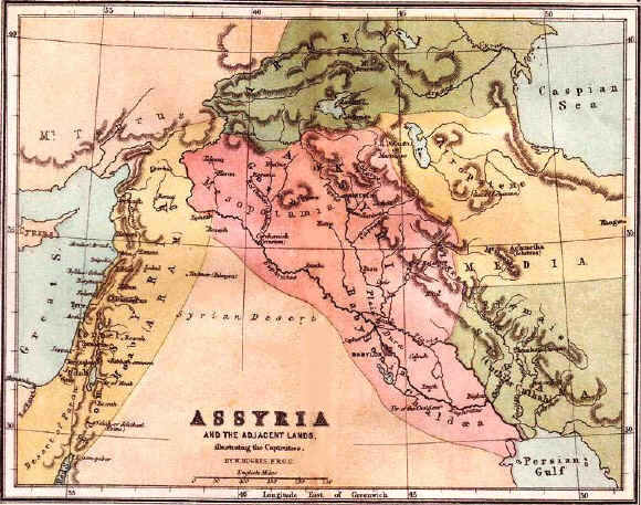 Bible maps: Ancient Assyria