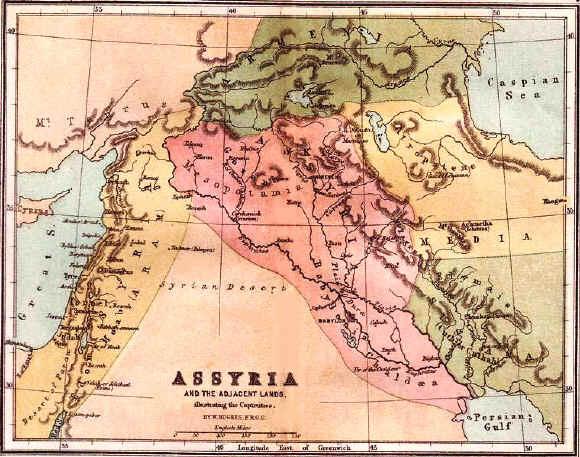 Bible maps: Ancient Assyria