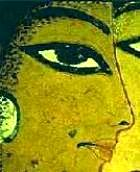 Egyptian wall painting of a woman