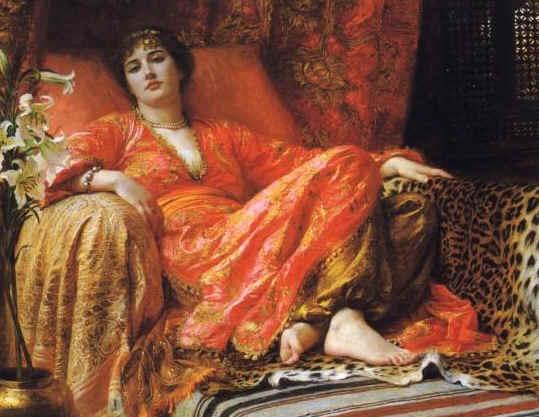 Bathsheba. Painting of 'Leila' by Sir Frank Dicksee