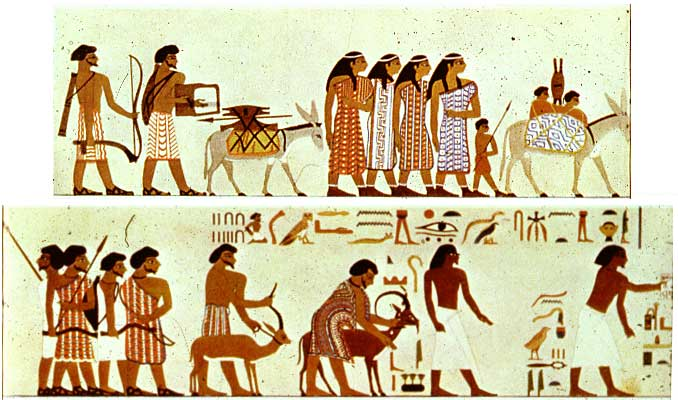 Mural from Beni Hasan, Egypt, showing a nomadic tribe from Syria-Canaan