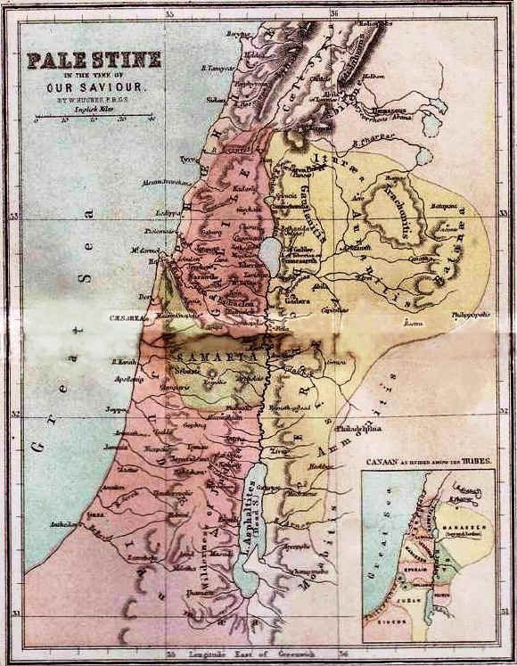 Bible maps: Biblical Lands in the time of Christ