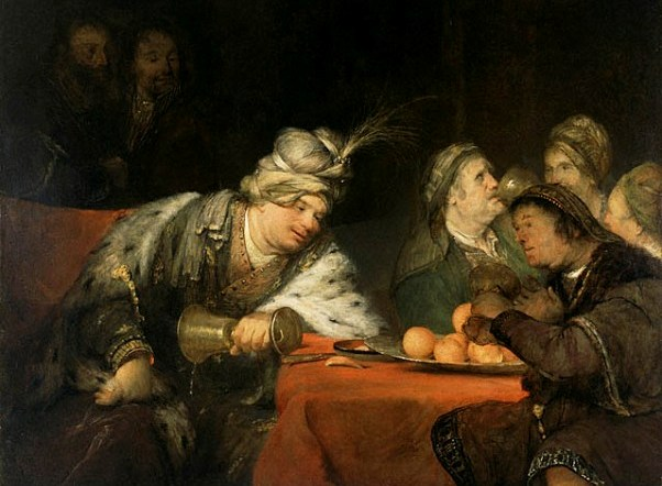 Esther Painting - 'The Banquet of Ahasuerus', Aert de Gelder, circa 1680