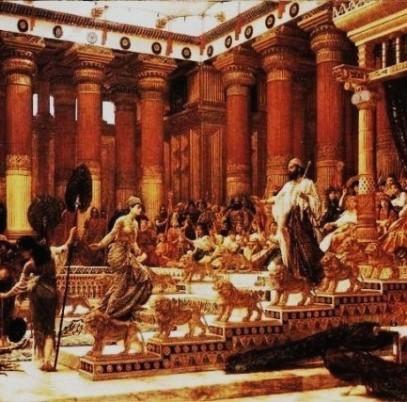 Bible Kings: Solomon receives the Queen of Sheba, Edward John Poynter