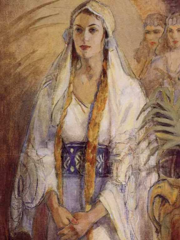 'Esther', painting by Minerva Teichert