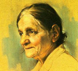 Women in the Bible: Detail of 'The Grandmother' by Morteza Katouzian, 1986