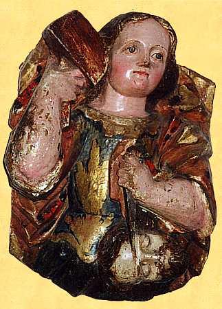 BIBLE WOMEN: DEBORAH: Medieval carving of Jael and Sisera